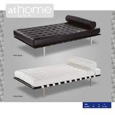 f904 black full italian leather daybed by at home