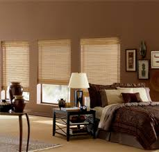 decorating window decor with levolor blinds on tan wall plus