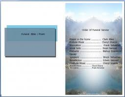 Funeral Programs Wording A Free To Download Funeral Program Template Microsoft Word In Doc