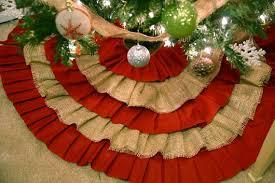 burlap christmas tree skirt burlap ruffle christmas tree skirt tree skirt christmas