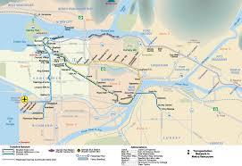 vancouver skytrain map interative metro map of vancouver johomaps