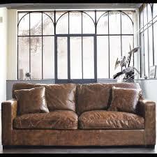 canapé cuir maison du monde 3 seat leather sofa stanford salon canapés canapé
