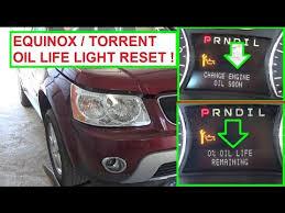 chevy equinox check engine light reset chevrolet equinox pontiac torrent change engine oil indicator oil