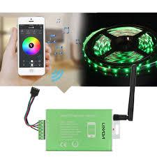 lixada 12v 24v 30a cellphone app controlled led strip light lamp
