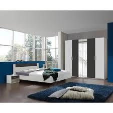 chambre adulte design blanc chambre adulte design blanche anthracite evonie iii 140 x 190 cm