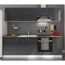 cuisine gris laqué arty cuisine complète laqué gris 240cm achat vente cuisine