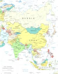 Asia Maps by Asia Maps Of Countries In Simple Map Asia Evenakliyat Biz