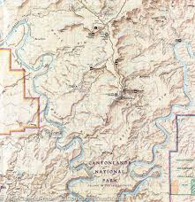 Utah Topo Maps by Trail Map Of Canyonlands National Park Island In The Sky