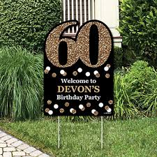 60th birthday party decorations 60th birthday gold party decorations birthday party