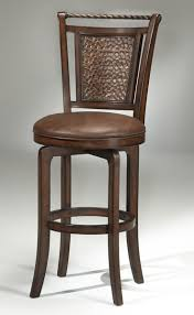 norwood copper back swivel counter stool brown cherry finish