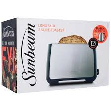 Sunbeam 2 Slice Toaster Sunbeam Long Slot 2 Slice Toaster Ta4520 Big W
