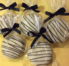 black tie party favors black and white party favors chocolate covered oreos party favors