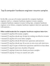 Cctv Experience Resume Top8computerhardwareengineerresumesamples 150402023553 Conversion Gate01 Thumbnail 4 Jpg Cb U003d1427960200