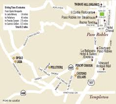 paso robles winery map paso robles wine country this week magazine wineries