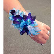 blue orchid corsage blue bomb orchid corsage missouri valley ia florist m j s flowers