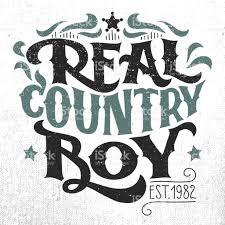 real country boy tshirt handlettering design stock vector art