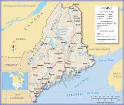 Time Zone Map Of United States by Reference Map Of Maine Usa Nations Online Project