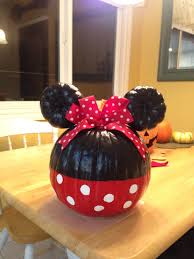 Disney Pumpkin Carving Patterns Mickey Mouse by Minnie Mouse Painted Pumpkin Holidays Pinterest Mouse Paint