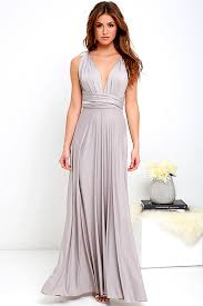 all the sway convertible light grey maxi dress gray maxi