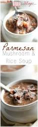 parmesan mushroom and rice soup 3boysunprocessed