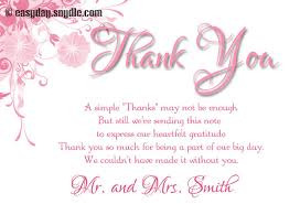 thank you card for wedding thank you card wording sles easyday