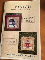 christmas village ornaments hilltop house u0026 quilt barn by legacy