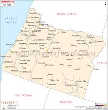 political map of oregon railroad map