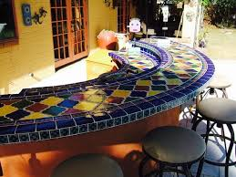 Mexican Patio Furniture Sets Bar Set Up For Outdoor Entertaining And Awesome Mexican Tile