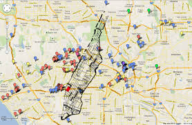 Map Of Gang Territories In Los Angeles by Nyc Has Art Gallery Density La Does Not But Does It Matter
