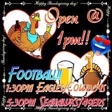 thanksgiving day open 1pm gameday shipmates sports bar