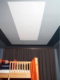 how to paint a graphic modern kids u0027 room ceiling design hgtv