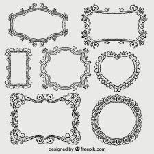 ornamental frames collection vector free