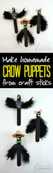 Religious Halloween Crafts by Popsicle Stick Crows Recipe Fall Decor Puppet And Crows