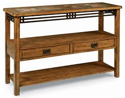 Oak Sofa Table Peters Revington American Craftsman Oak Sofa Table With Slate Tile