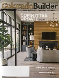 home design and builder all about home design on cover of colorado builder forum magazine