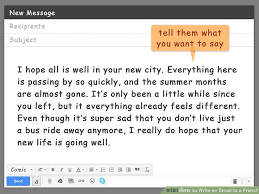 Body Of An Email When Sending Resume How To Write An Email To A Friend With Pictures Wikihow