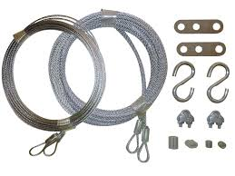 amazon com garage door cable replacement kit two 3 32 inch x 14