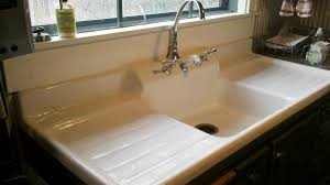 Farm Sink With Backsplash by 1910 Farm Sink With Built In Backsplash And Double Drainboards