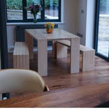 table in the kitchen contemporary dining table and benches dovetailors