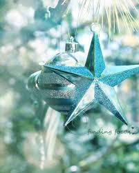 aqua turquoise christmas star photo retro xmas by findingfocus