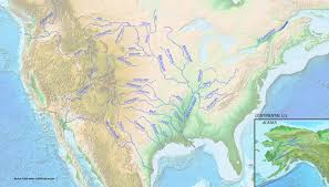 Ohio River On Map by List Of Longest Rivers Of The United States By Main Stem Wikiwand