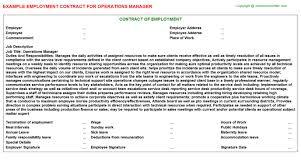 operations manager employment contract