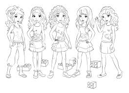 cafe coloring page for kids printable free lego friends with