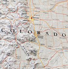 Map Of Denver Colorado by Map Of Denver Area Stock Photo 182686138 Istock