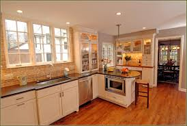 astounding brown glazed maple kitchen cabinet ideas for small mid