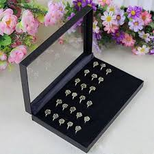 jewellery box rings images Rings box for retailer pvc simple jewelry box rings showcase jpg