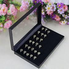 jewellery box rings images Rings box for retailer pvc simple jewelry box rings showcase jpg