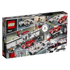 lego audi r8 lego speed champions porsche 919 hybrid and 917k pit lane 75876