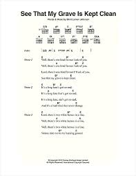 Blind Chords See That My Grave Is Kept Clean Sheet Music By Blind Lemon