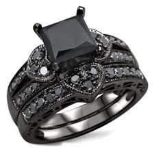 black wedding ring set black bridal jewelry sets shop the best wedding ring sets deals